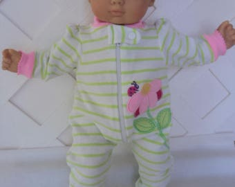 Bitty  Baby Girl  Cute footed Pajama,  Sleeper , Doll Clothes