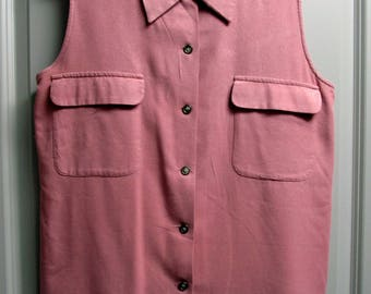 Mauve sleeveless button down - New York Studio - Woman's top size M