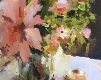 Wednesday's Flowers - Original Painting by Cari Humphry