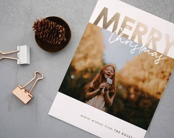 Custom Holiday Cards, Christmas Cards, Elegant, Simple, Photography, Photo Card, Modern, Personalized, Holidays - Merry Holiday Card