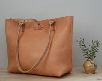 Nana natural Horween leather Millie tote