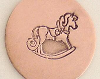 Rocking Horse Metal Design Stamp 7 mm x 5 mm  - Metal Jewelry Stamping Tool