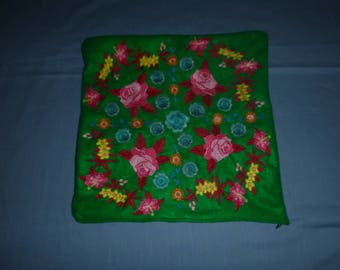 embrpodered 16 inch pillow cover with zippered bottom