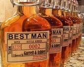 Private Listing for idoabbaygrace Liquor Flask with Label - Wedding Groomsman Liquor Bottle Flask - Hinged Flask 250ml - 3 pc set