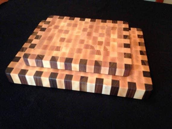Birch & Walnut End Grain Cutting Board