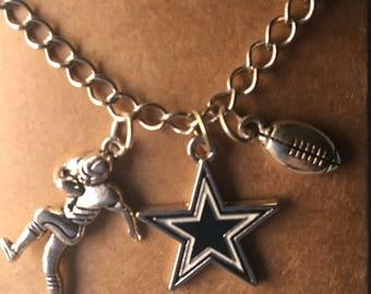 "Dallas Cowboy 20 "" chain silvertone, Dallas jewelry, sports jewelry, Dallas football jewelry, football jewelry, Xmas gift, stocking stuffer"