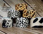 Leather Cheetah  Bracelet Cowhide Cheetah Cuff SINGLE Bracelet Leopard Animal Print Cowhide Leather Bracelet Leather Jewelry Design Cuffs