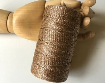 BAKERS TWINE ... Gold Metallic Twine Spool 218 yards Weddings Holiday Wrapping Packaging Supplies Gift Wrap Supply Christmas Shiny Glitz