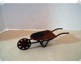 Rusty Mini Wheelbarrow/Fairy Garden/ Minis/ Craft Supplies*