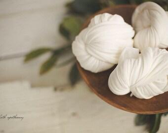 Stretch Knit Wrap - Baby Wrap - Newborn Wrap - Matte Knit OPAL White Wrap - Newborn Photo Prop - Newborn Stretch Knit Wrap