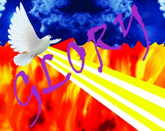 Worship flag / Banner Glory of God Invading earth Made of Satin Silk 36x54 inches