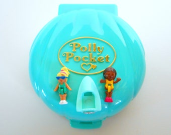Vintage Polly Pocket Polly's Beach Party Playset Playset - Bluebird Toys 1989