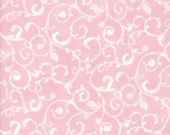 Swirls in Pink  LILY and WILL REVISITED by Bunny Hill Designs  Moda 2808 31  swirls on pink ground