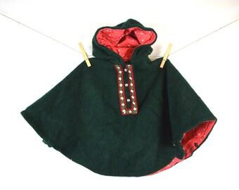 Vintage Kid's Size German Poncho Coat - Haidegger
