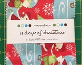 12 days of Christmas Kate Spain Charm pack Moda Rare OOP