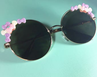 Modern Cat Eye Tiny Super Cute Pastel Bow Cluster Sunglasses SALE
