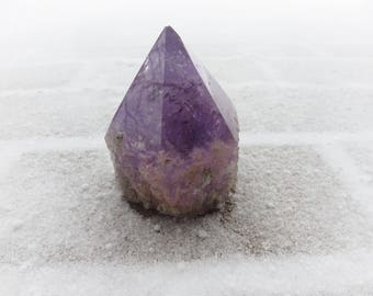 "Amethyst Point, 3 1/2"" x 3 1/2"" x 8 1/2"" Around, Free Standing, Large Amethyst Display, Sparkle on the Point"