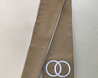 Double Ring Wedding Officiant Clergy Stole or Vestment