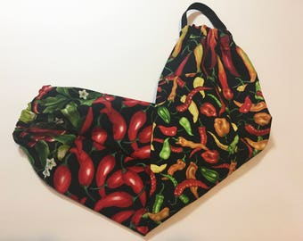 Chili Peppers Grocery Bag Holder