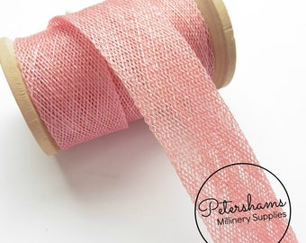 3cm Sinamay Bias Binding Tape Strip (1.6m/1.7yards) for Millinery & Hat Making - Light Pink