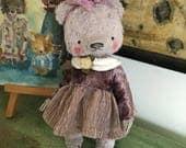 4,5 inch Artist Handmade Miniature Teddy Bear Vera by Sasha Pokrass