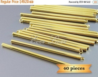 10% SALE 40 extra long 47mm bar stick pendants, bar necklace pendant 1995-BG (40 pieces)
