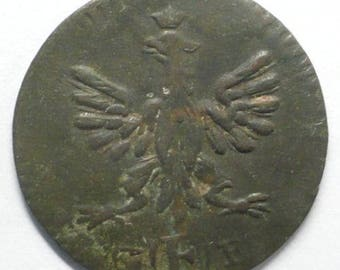 ANTIQUE Over 220Years Old 1796 GERMAN FRANKFURT Frankfurt Am Main 1 pfennig copper coin