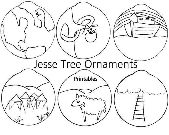 image about Jesse Tree Ornaments Printable referred to as Jesse Tree Coloring Reserve: Jesse Tree Coloring Ebook On top of that