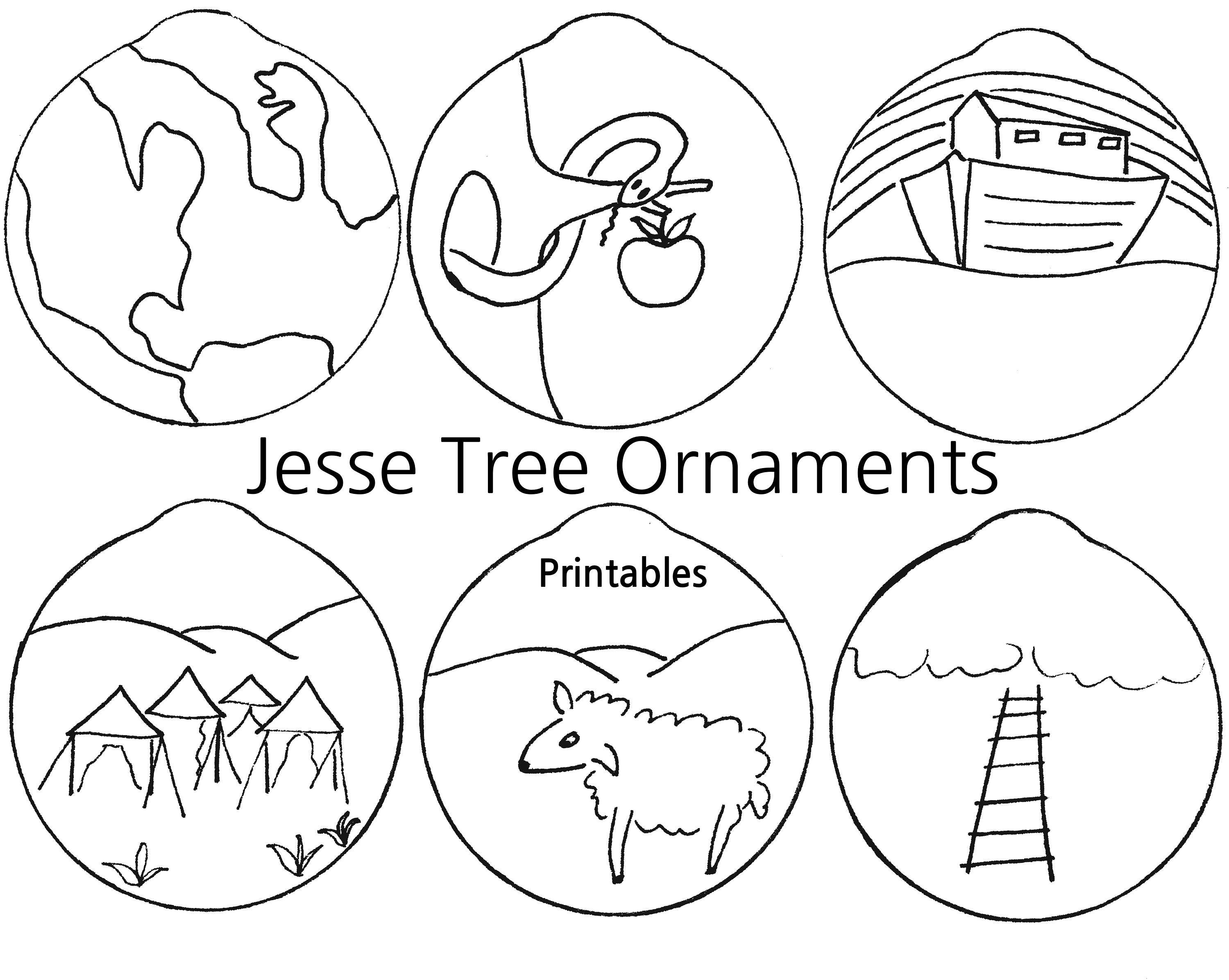 Old Fashioned image intended for printable jesse tree ornaments