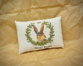 Easter Mini Pillow | Easter decor | Easter Basket filler  | Basket Stuffer | Farmhouse Easter pillow | Victorian bunny tuck | Easter Gift