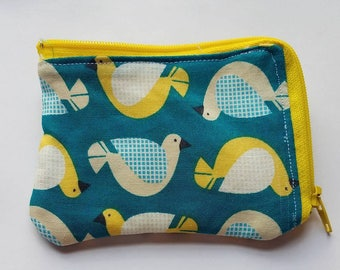 Doves Coin purse/coin/purse/small bag/small piece/coins/cards/card holder/pouch