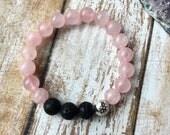 Petite Rose Quartz Essential Oil Diffuser Bracelet