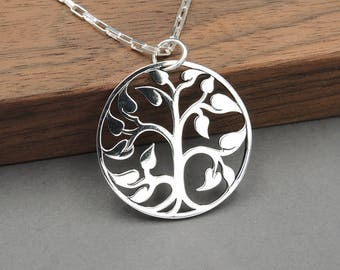 Tree Necklace - 925 Sterling Silver Tree of Life Necklace, zen jewelry, gift for mom