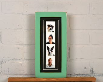 """4x10"""" Picture Frame for Photo Booth Strip in 1x1 Flat Style with Vintage Robin's Egg Finish - IN STOCK - Same Day Shipping - Photo Booth"""