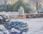 Snow at Mount Vernon...
