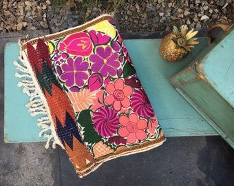 Mexican Textiles Embroidered Table Runner from Oaxaca Bohemian Decor Colorful Mexican Decor