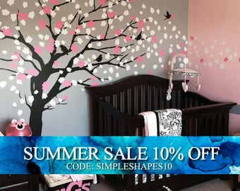 Wall Decals Nursery, Cherry Blossom Tree Decal, Wall Decal Tree, Wall Decals for girls