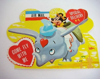 Dumbo Valentine Disney Dumbo Valentine Dumbo and Mickey Mouse Valentine