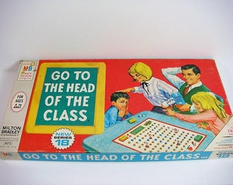 Go To The Head Of The Class Educational Board Game 1967