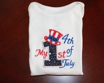 Boy 1st 4th of July shirt, onesie First Fourth of July 1st 4th of July  Independence Day