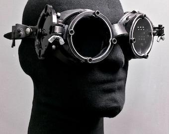 Machined Flip Cover Goggles  - Nocturne -Black