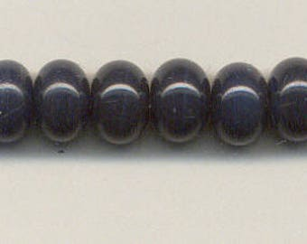 9-10mm, Tom's lampwork opaque Prussian blue 12 spacers bead set 95640