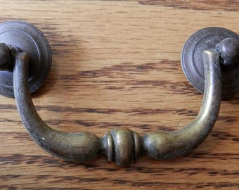 Nine (9) vintage 3 inch centers bail style drawer pull