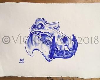 Hippopotamus Study Original Painting