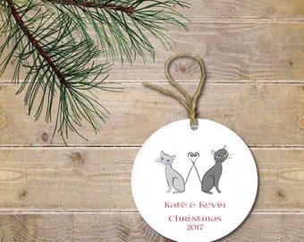 First Christmas Ornament, Cat Christmas Ornament, Cats, Cat Lovers, Cat Ornament, Our First Christmas, Wedding Gift, Bridal Shower Gift