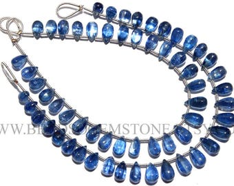 Quality A Natural Kyanite Beads In Drops Smooth Shape, 5x6.5 to 5x9, KY-010, Semiprecious Gemstone Beads, Craft Supplies For Jewelry Making