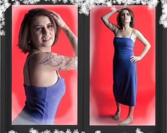Holiday Party Dress - Midi Slip Dress - Vintage Slip Dress - Sparkly Party Dress - Sparkly Dress - Midi Party Dress - Vintage Party Dress