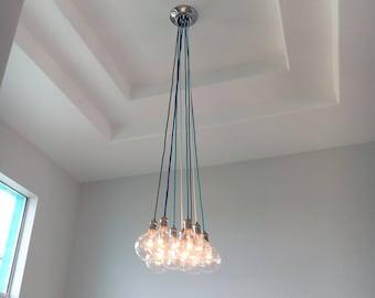 foyer chandelier custom long pendant lights multi 9 pendant light cluster modern chandelier