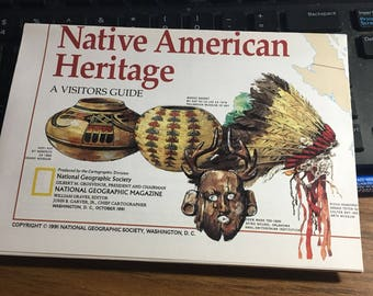 Native American heritage map National Geographic 1991.