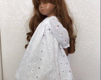 White Yoke Dress and Pants for Sasha Doll